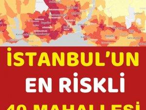 İstanbul'da k'oronavirüs riskinin en yüksek olduğu 40 mahalle