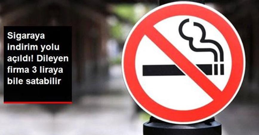 Sigaraya indirim yolu açıldı!