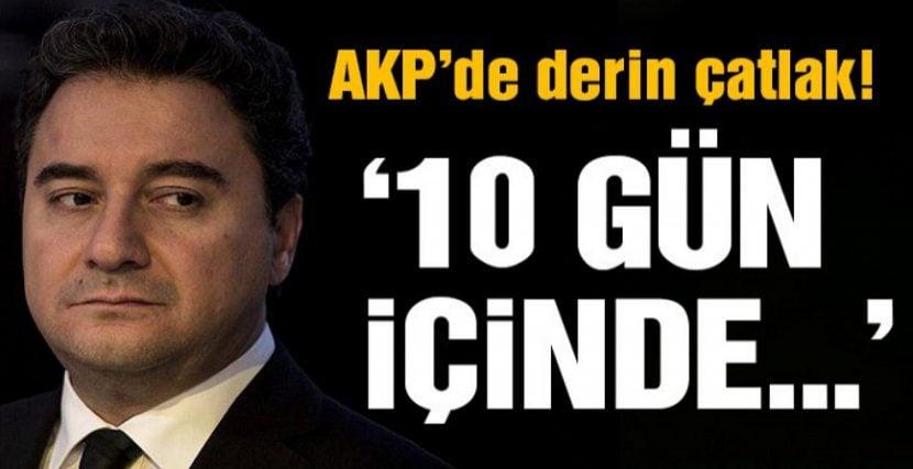 10 GÜN İÇİNDE AKP'DEN İSTİFA EDECEK İDDİASI!